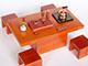 高級原木現代泡茶桌椅組