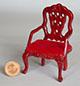 刻花紅木扶手椅--樣品清倉