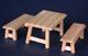 英式鄉村長桌+2長條椅