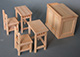 DIY特惠合購價---2組課桌椅+1講台