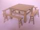 懷舊條椅(1桌+4椅)