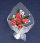 莓紅色玫瑰花束