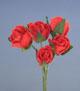 紅色玫瑰花(中)-5朵1組