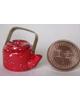 紅色茶壺(可掀蓋)