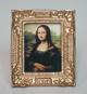 009金色畫框+蒙娜麗莎的微笑畫像